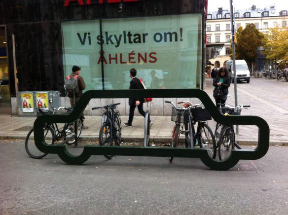 A fun bike coral in Stockholm