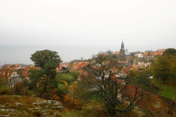 Overlooking Gudjhem, our jumping off point in Bornholm.